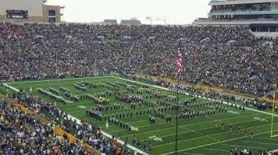 Notre Dame Stadium, sección: 104, fila: 24, asiento: 19