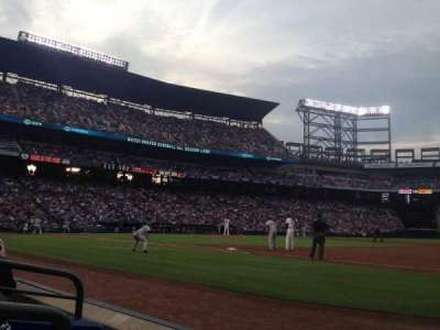 Turner Field, sección: 117r, fila: 2, asiento: 1