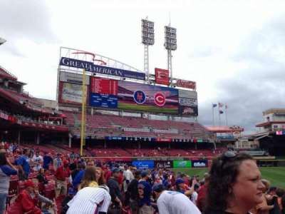 Great American Ball Park, sección: 115, fila: H, asiento: 12