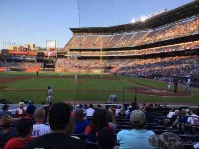 Turner Field, sección: 108L, fila: 14, asiento: 105