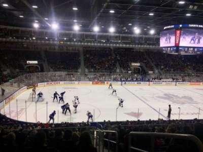 Ricoh Coliseum, sección: 112, fila: Q, asiento: 1
