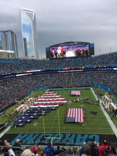 Bank of America Stadium, sección: 554, fila: 8, asiento: 21