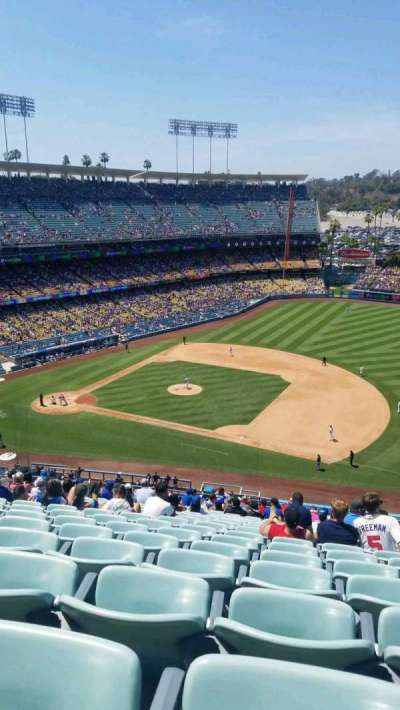 Dodger Stadium, sección: 24RS, fila: V, asiento: 16