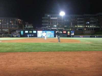 Durham Bulls Athletic Park, sección: 114, fila: A, asiento: 7 and 8