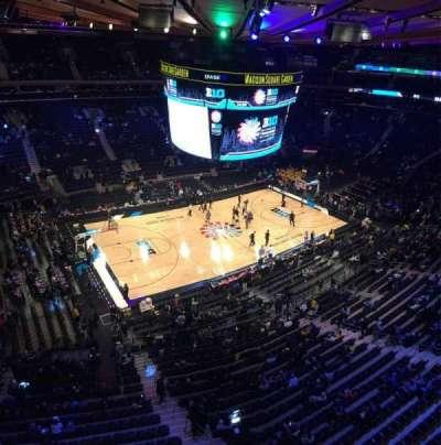 Madison Square Garden, sección: 311, fila: 1, asiento: 12