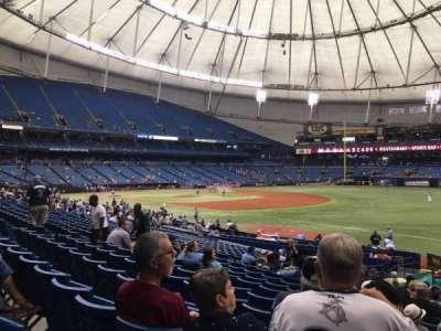 Tropicana Field, sección: 130, fila: BB, asiento: 18