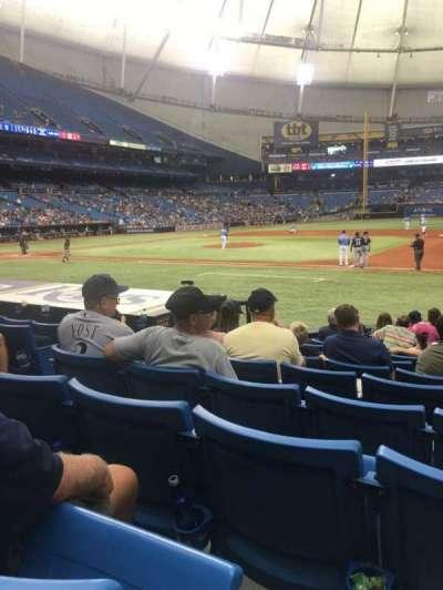Tropicana Field, sección: 122, fila: Q, asiento: 5