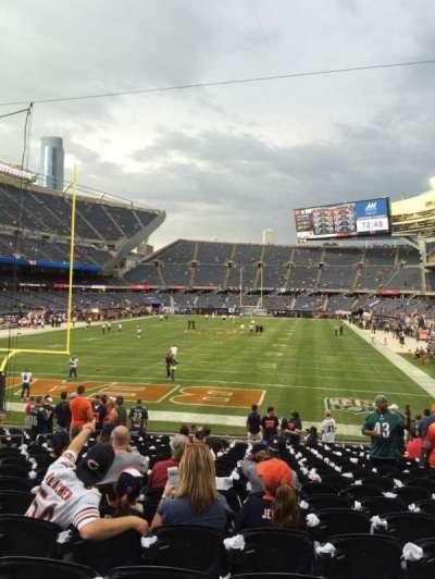 Soldier Field, sección: 121, fila: 19, asiento: 10