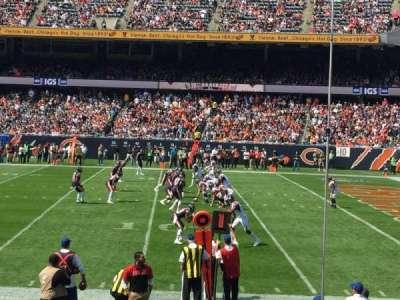 Soldier Field, sección: 105, fila: 10, asiento: 11