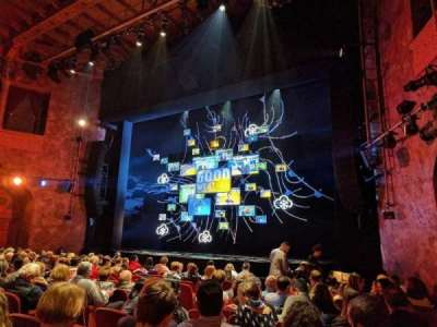 August Wilson Theatre, sección: ORCHR, fila: M, asiento: 14