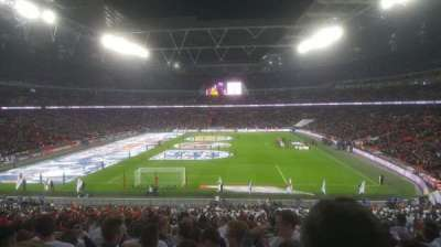 Wembley Stadium, sección: 111, fila: 44 ( back )