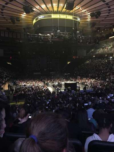 Madison Square Garden, sección: 101, fila: 15, asiento: 13