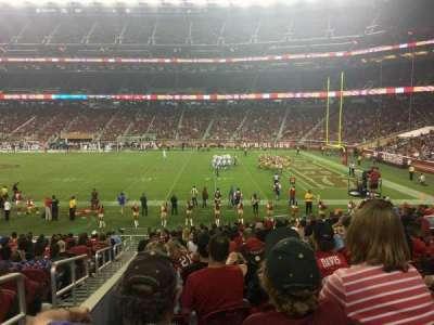 Levi's Stadium, sección: 134, fila: 20, asiento: 16
