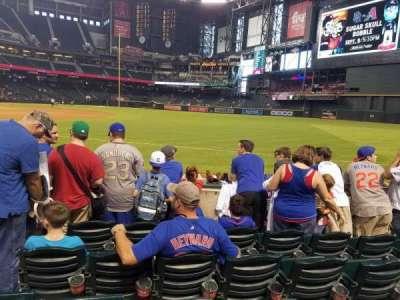Chase Field, sección: 112, fila: 3, asiento: 3