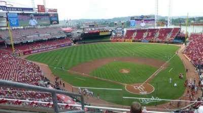 Great American Ball Park, sección: 422, fila: D, asiento: 15