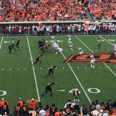 Boone Pickens Stadium, sección: 207, fila: 25, asiento: 6