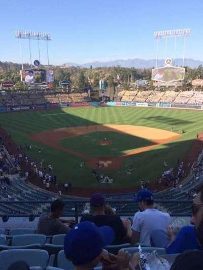 Dodger Stadium, sección: 1RS, fila: E, asiento: 11