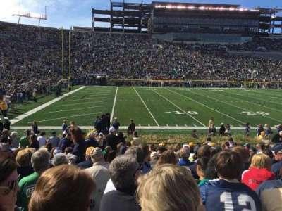Notre Dame Stadium, sección: 13, fila: 20, asiento: 3