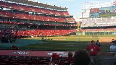 Great American Ball Park, sección: 130, fila: M, asiento: 1