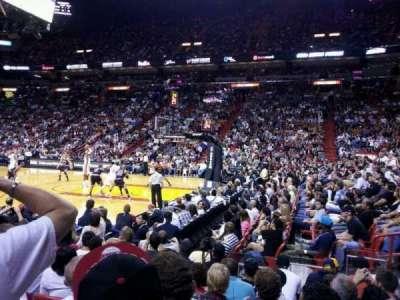American Airlines Arena, sección: 105, fila: 8, asiento: 1
