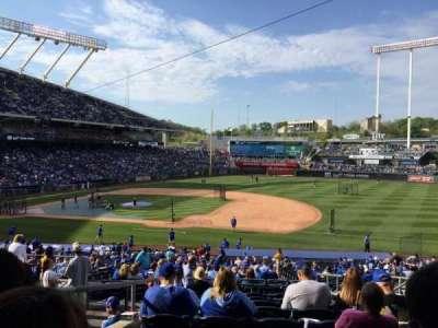 Kauffman Stadium, sección: 237, fila: KK, asiento: 8