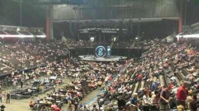 Jacksonville Veterans Memorial Arena, sección: 107, fila: AA, asiento: 11
