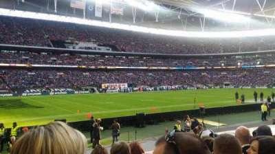Wembley Stadium, sección: 105, fila: 15, asiento: 73