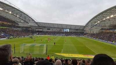 American Express Community Stadium, sección: S1D, fila: W, asiento: 825