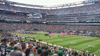 MetLife Stadium, sección: 109, fila: 25, asiento: 7