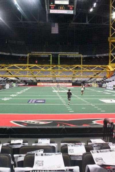 Jacksonville Veterans Memorial Arena, sección: 120, fila: D, asiento: 3