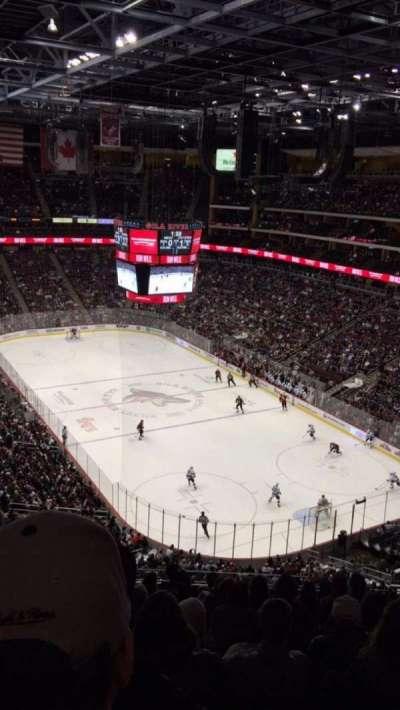 Gila River Arena, sección: 210, fila: J, asiento: 5
