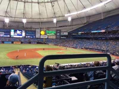 Tropicana Field, sección: 121, fila: PP, asiento: 9