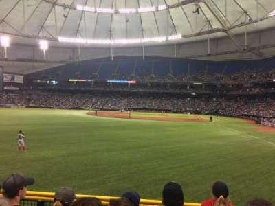 Tropicana Field, sección: 141, fila: W, asiento: 5