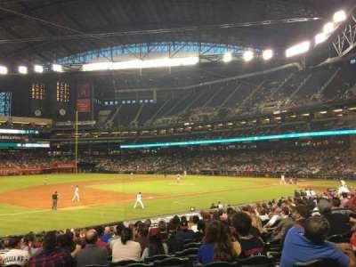 Chase Field, sección: 130, fila: 22, asiento: 11