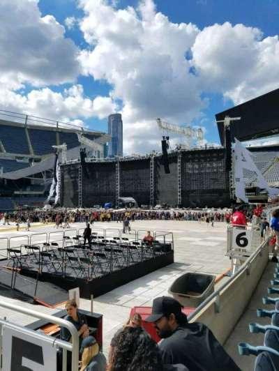 Soldier Field, sección: 110, fila: 2, asiento: 19