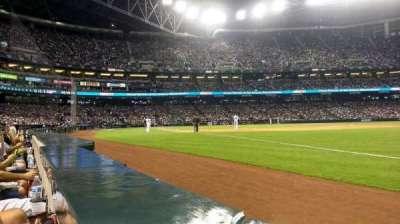 Chase Field, sección: 111, fila: 1, asiento: 20