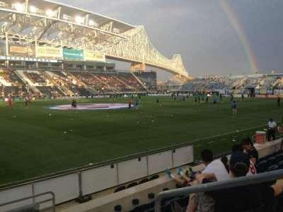 Talen Energy Stadium, sección: 110, fila: F, asiento: 2