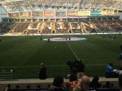 Talen Energy Stadium, sección: 107, fila: G , asiento: 12