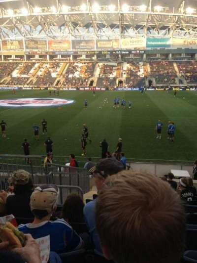 Talen Energy Stadium, sección: 104, fila: P, asiento: 15
