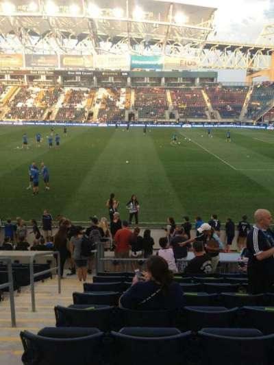 Talen Energy Stadium, sección: 104, fila: M, asiento: 15