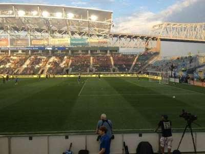 Talen Energy Stadium, sección: 103, fila: F, asiento: 16