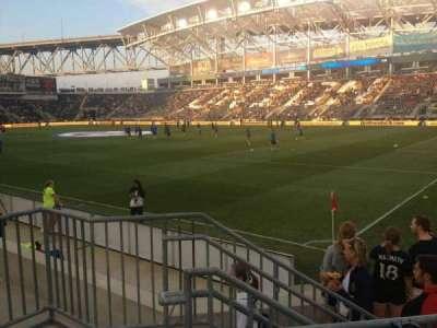 Talen Energy Stadium, sección: 101, fila: F, asiento: 6