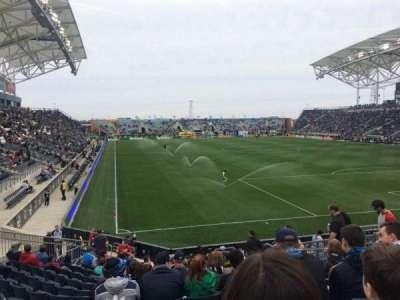 Talen Energy Stadium, sección: 120, fila: R, asiento: 10