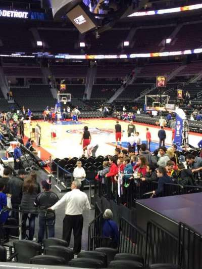 The Palace of Auburn Hills, sección: 109, fila: D, asiento: 3