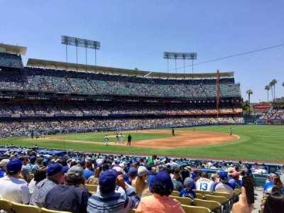 Dodger Stadium, sección: 34FD, fila: S, asiento: 1