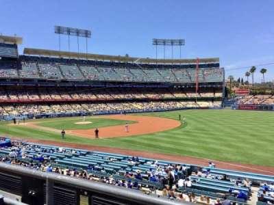Dodger Stadium, sección: 154LG, fila: B, asiento: 1