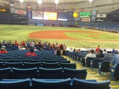 Tropicana Field, sección: 119, fila: BB, asiento: 9