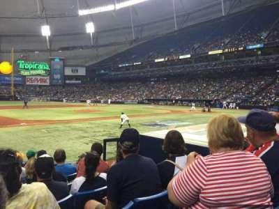 Tropicana Field, sección: 119, fila: M, asiento: 9