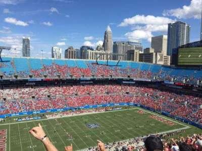 Bank of America Stadium, sección: 545, fila: 23, asiento: 19