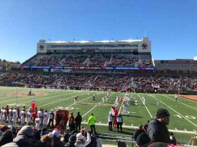 Alumni Stadium, sección: S, fila: 16, asiento: 1